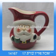 Jarra de agua de cerámica de Santa de Navidad de alta calidad