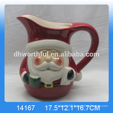 High quality Christmas santa ceramic water jug