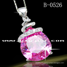 925 Sterling Silver Pendant with CZ (B-0526)