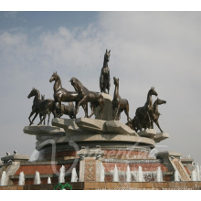 Fontaine extérieure de cheval d'eau populaire avec des chevaux (la fonderie fournissant directement)