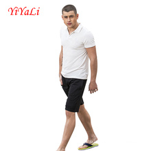 Homens Polo Neck Shirt Casual T-Shirt Boy Blusa