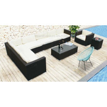 Modern Outdoor Leisure Hotel Furniture Rattan Wicker Sofa (F867)