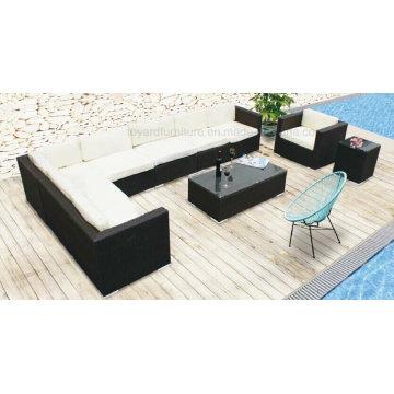 Modern Outdoor Leisure Hotel Furniture Rattan Wicker Sofa (F867)