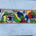Parche de bordado de insignia de lazo de diseño personalizado para ropa
