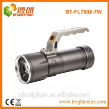 Fábrica de suministro de energía de alta potencia cree función de zoom ajustable llevó la luz del punto, llevó la linterna portátil, linterna de caza