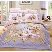 California King Bett Set Schlafzimmer Set Rose Design Bettwäsche Set mit Kissenbezug