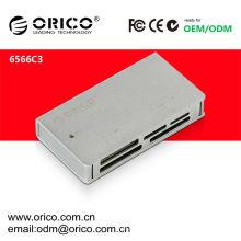 O leitor de cartões ORICO 6566C3 USB3.0 pode suportar cartões SD / TF / CF / MS / M2 / XD