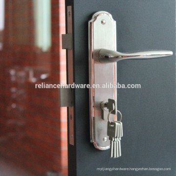 2105 high quality stainless steel material entry door locks with plate