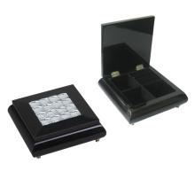 Caja de madera negra de la joyería para la decoración (628037)