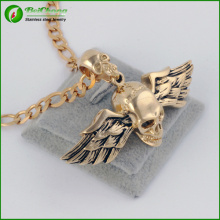 Personalized Titanium Steel Men's Jewelry Bird Wings Skull Pendant