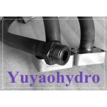 SAE Bloco de flange de solda por extremidade em peça única para tubo métrico