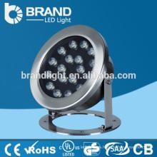 Acero inoxidable IP68 12V luz subacuática LED 36W, RGB que cambia la luz subacuática del LED
