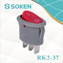 Interruptor oscilante iluminado Spst Oval