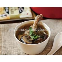 Sopa de champiñones Preparación para hacer un caldo de pato