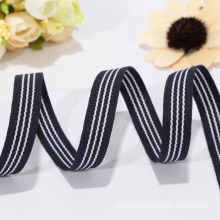 wholesale black white striped ribbon ,polyester ribbon