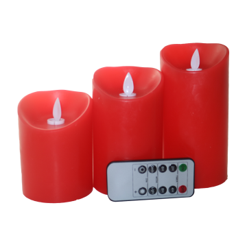 Velas de cera de coluna de LED Slim Powered