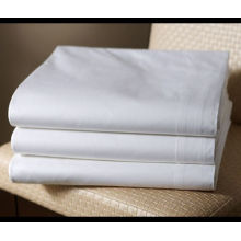 white cotton percale wholesale bed sheet for hotel and hospital and home