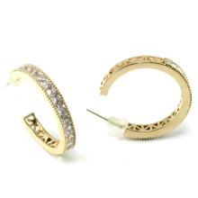 Bijoux de bonne qualité pour femme 3A Boucles d'oreilles en argent blanc CZ 925 (E6495)