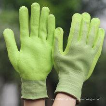 Luvas do nitrile da espuma do verde do trabalho do ligth do jardim de NMSAFETY
