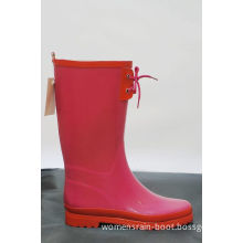 Dirty-resistant Women Red Rubber Half Rain Boots For Working
