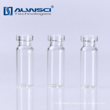 11mm clear glass hplc gc crimp autosampler vial 1.8ml for lab analysis