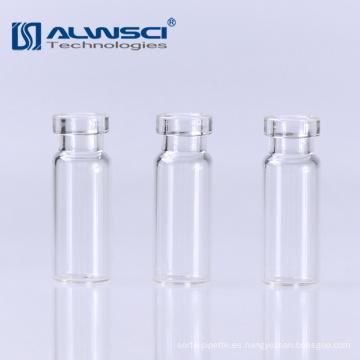 11mm de vidrio transparente hplc gc grifo de inyección automática frasco 1.8ml para análisis de laboratorio