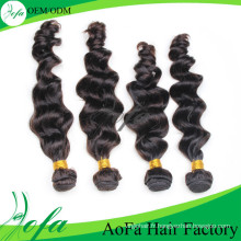 En gros 100% de Cheveux Humains Non Transformés Vierge de Cheveux Humains