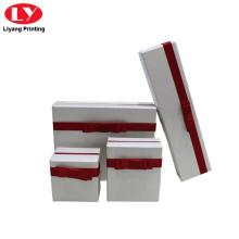 caja de conjunto de joyas caja de embalaje de papel caja de joyería blanca