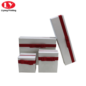 white jewellery set box paper packaging necklace box
