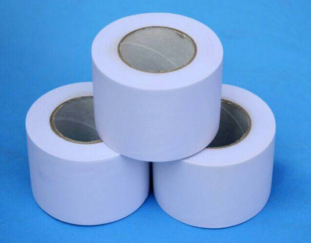 white PVC tape without glue