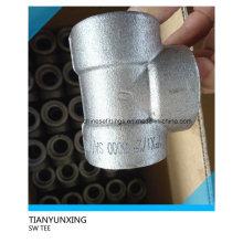 ANSI Accesorio de acero al carbono Forged Socket Weld Tee