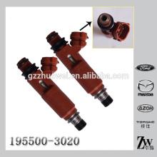 Nova chegada auto injeção de combustível montagem de injetor de combustível solenóide 195500-3020 1955003020 para Mazda Mitsubishi