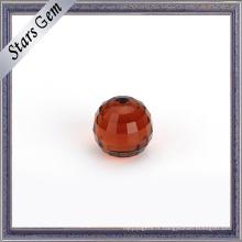 Wuzhou usine prix rond Checker boule de verre coupée