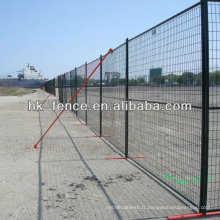 Panneaux provisoires enduits de barrière soudés par poudre durable de 6FT avec les pieds plats en acier