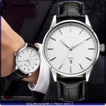 Yxl-450 Mode Uhren Edelstahl Quarz Men′s Damen Uhr Marke Leder Stahl Datum Handgelenk Uhr Men