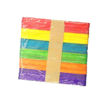 Hot sale Low prices 114mm*10mm*2mm colorful wooden diy ice cream stick