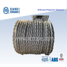 8 Strand 64mm 220m Length Polyester Mooring Rope