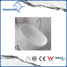 Bathroom Oval Solid Surface Freestanding Bathtub (AB6553)
