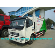 Euro 3 DFAC 5-6 tons compactor garbage truck prices,4x2 garbage truck with compactor
