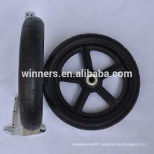 7 inch small plastic stroller wheel/power wheelchair front wheel