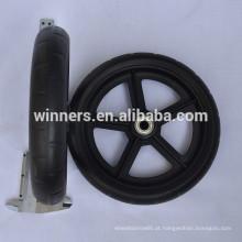 Roda de carrinho de criança plástica pequena de 7 polegadas / roda dianteira da cadeira de rodas da potência