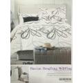 4 قطعة 3d مطبوعة الزهور الفراش مجموعة أغطية غطاء لحاف، ورقة السرير 2 سادات الملك / الملكة / التوأم الحجم
