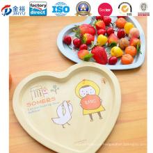 Bandeja de embalagem de metal em forma de coração para armazenamento de frutas