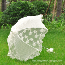 Wholesale high quality outdoor bridal party wedding lace umbrella