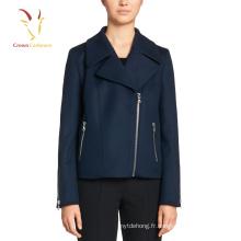 Dernier manteau court de conception, manteaux d'hiver mignons de laine de cachemire pour des dames
