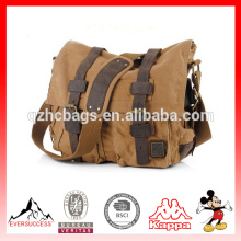 Waxed Canvas Laptop Bag Canvas Messenger Bag for Teens