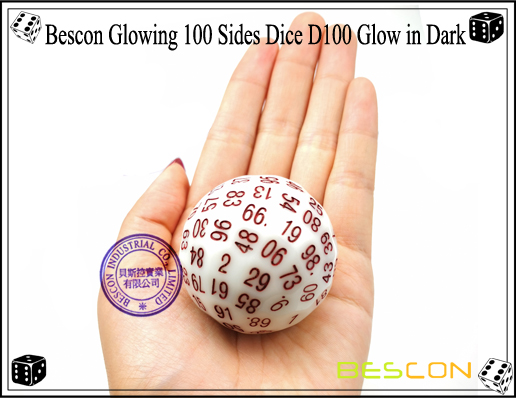 Bescon Glowing 100 Sides Dice D100 Glow in Dark-6