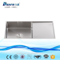 Antique SUS304 custom size washing stainless steel sink 3mm flush mount installation