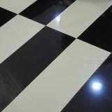 Polished Porcelain White and Black Ceramic Floor Tile