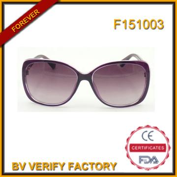 F151003 Cadre en plastique femmes lunettes de soleil